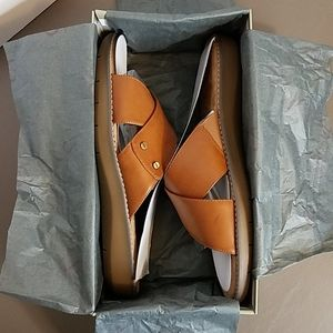 NIB A2 by Aerosoles Cool Breeze Sandal Dark Tan